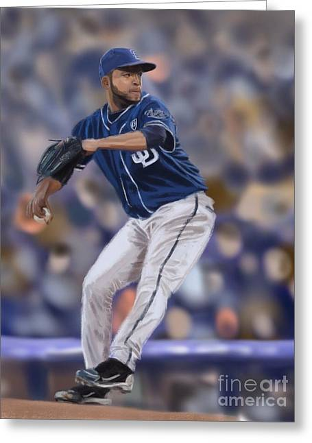 Petco Park Digital Art Greeting Cards - Odrisamer Despaigne Greeting Card by Jeremy Nash