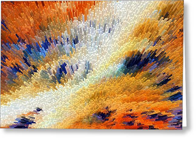Celestial Digital Greeting Cards - Odyssey - Abstract Art by Sharon Cummings Greeting Card by Sharon Cummings
