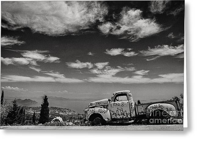 Old Pickup Greeting Cards - Odyssey Greeting Card by Rod McLean