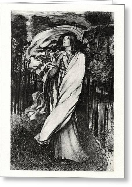 1916 Drawings Greeting Cards - Oenone Greeting Card by Celestial Images