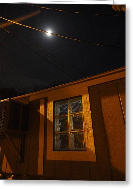 Guy Ricketts Photography Greeting Cards - Of Moonbeams and Glass Block Windows Greeting Card by Guy Ricketts