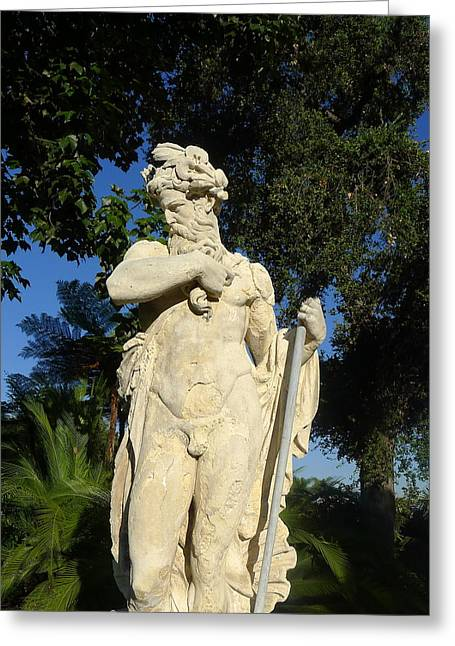 Greek Sculpture Greeting Cards - Of The Gods Greeting Card by Denise Mazzocco