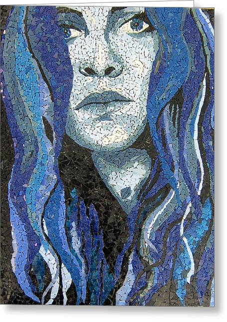 Woman Glass Art Greeting Cards - Of Water Greeting Card by Monique Sarfity