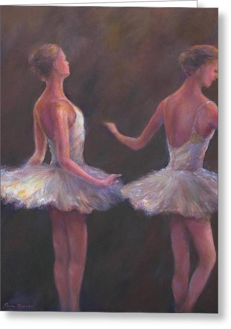 Ballet Dancers Greeting Cards - Of which each movement  Greeting Card by Bonnie Goedecke