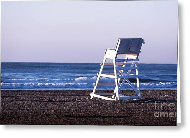 Beachscape Greeting Cards - Off Duty Greeting Card by John Rizzuto