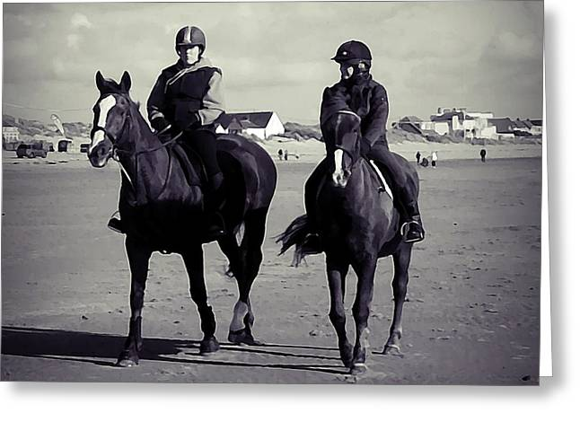 Equestrian Prints Photographs Greeting Cards - Off for a trot Greeting Card by Sharon Lisa Clarke