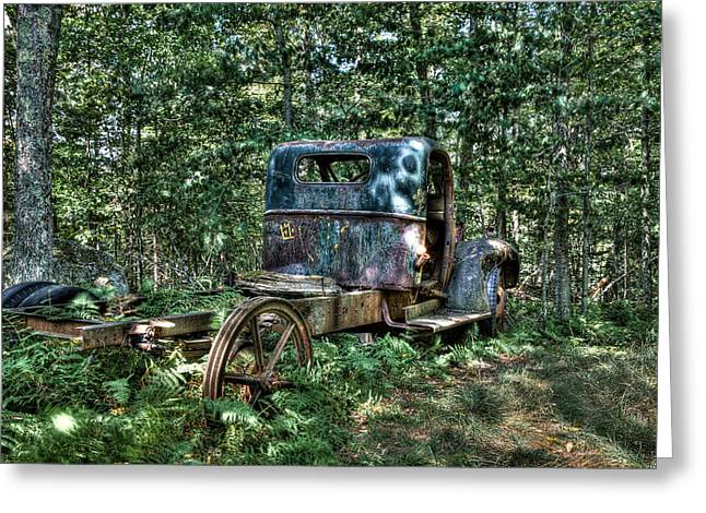 Old Trucks Greeting Cards - Vintage Chevy Maple Leaf Truck Greeting Card by David Patterson