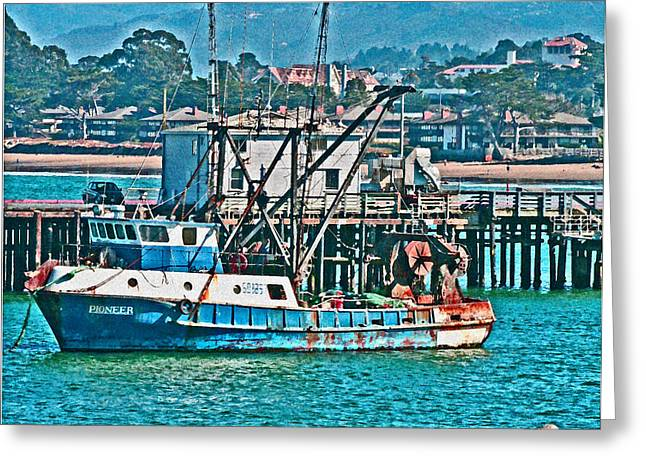 Half Moon Bay Digital Greeting Cards - Off Shore Fishing Greeting Card by Joseph Coulombe