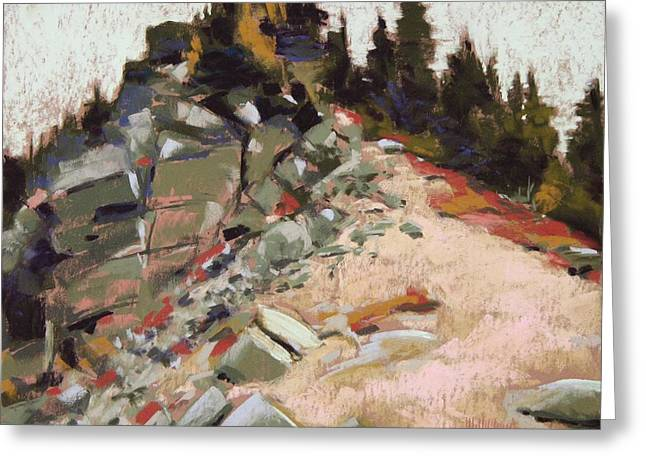 Mt Pastels Greeting Cards - Off Sourdough Trail Sunrise Mt Rainier Greeting Card by Mary McInnis