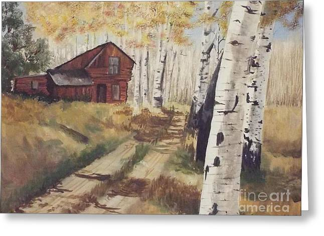 Fall Grass Greeting Cards - Off the beaten path Greeting Card by Audrey Van Tassell