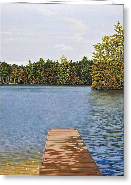 Canoe Greeting Cards - Off the Dock Greeting Card by Kenneth M  Kirsch