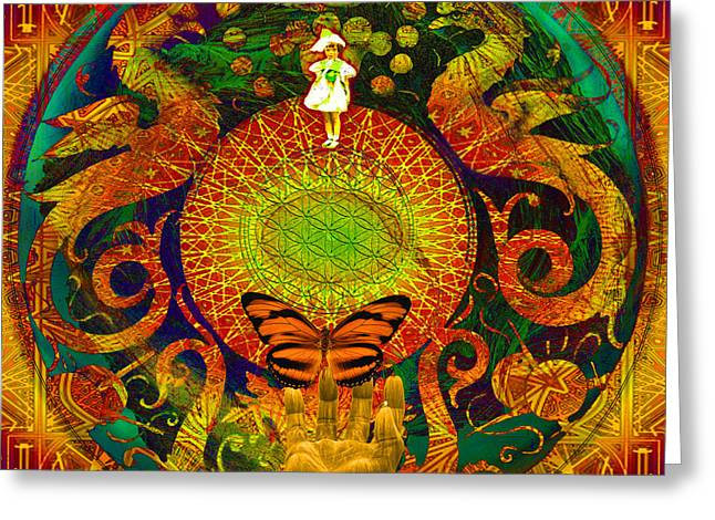 Renewing Digital Art Greeting Cards - Solar Enighter Greeting Card by Joseph Mosley