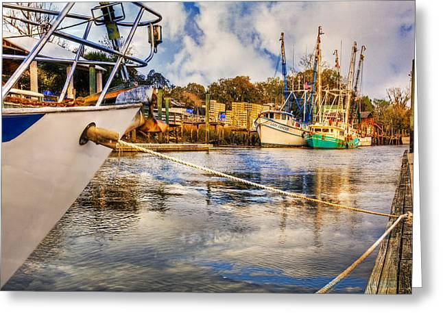 Florida Bridge Greeting Cards - Off the Starboard Bow Greeting Card by Debra and Dave Vanderlaan