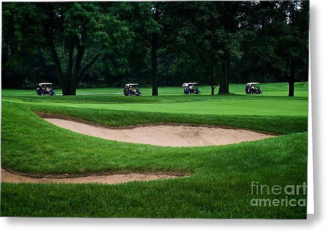 Off To Golf We Go Greeting Card by Frank J Casella