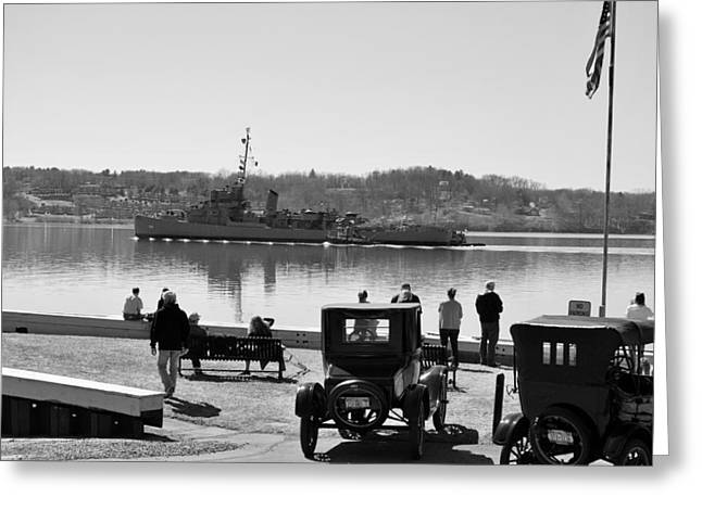 Hudson River Tugboat Greeting Cards - Off to Repair Greeting Card by Kurt Von Dietsch