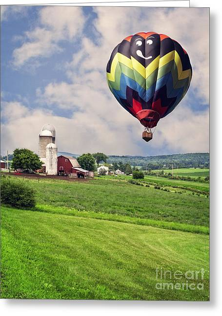 Hot Air Greeting Cards - Off to the Land of Oz Greeting Card by Edward Fielding