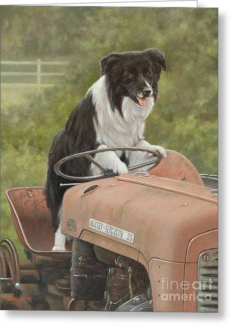 Working Dog Greeting Cards - Off to work II Greeting Card by John Silver