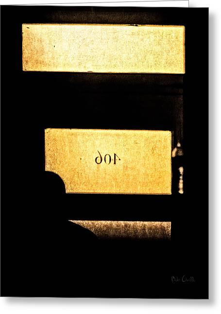Noir Photographs Greeting Cards - Office 406 Greeting Card by Bob Orsillo