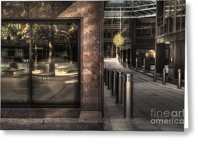 21st Greeting Cards - Office building City of London Greeting Card by Curtis Radclyffe