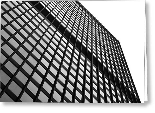 Office Cubicle Greeting Cards - Office Building Facade Greeting Card by Valentino Visentini