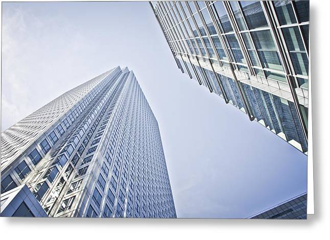 Place Of Business Greeting Cards - Office Buildings Greeting Card by Mesha Zelkovich