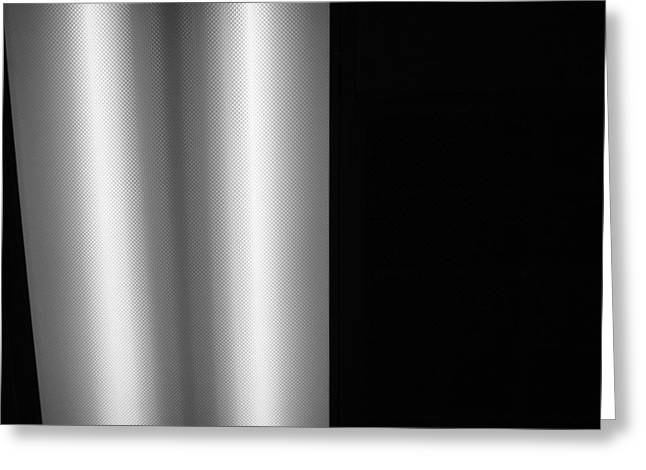 Office Ceiling Black and White Greeting Card by Mary Bedy