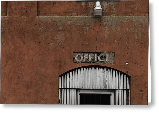 Metal Sheet Greeting Cards - Office Door - Architecture Greeting Card by Steven Milner