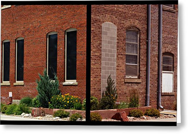 Entrance Door Greeting Cards - Office Factory Greeting Card by Nikolyn McDonald