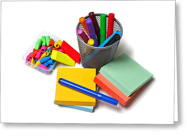 Organizer Greeting Cards - Office Supplies Greeting Card by Donald  Erickson
