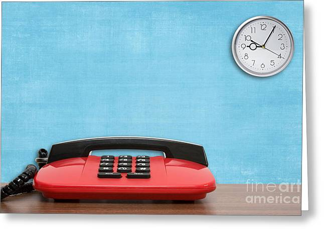 Dialing Greeting Cards - Office Telephone Greeting Card by G J