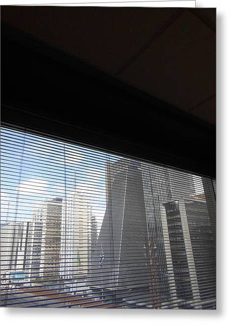 Fineartamerica Greeting Cards - Office Window Greeting Card by Rogerio Gomes