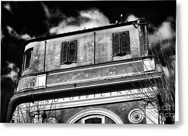 Trastevere Greeting Cards - Officina Greeting Card by John Rizzuto