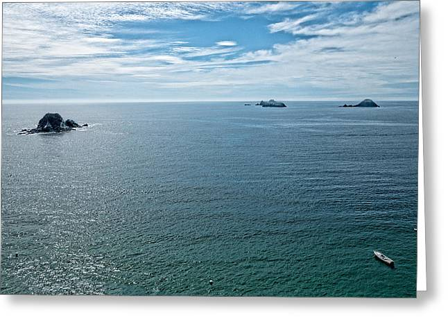 Kite Greeting Cards - Offshore Islands. Aerial View.  Playa El Palmar. Ixtapa. Mexico Greeting Card by Rob Huntley