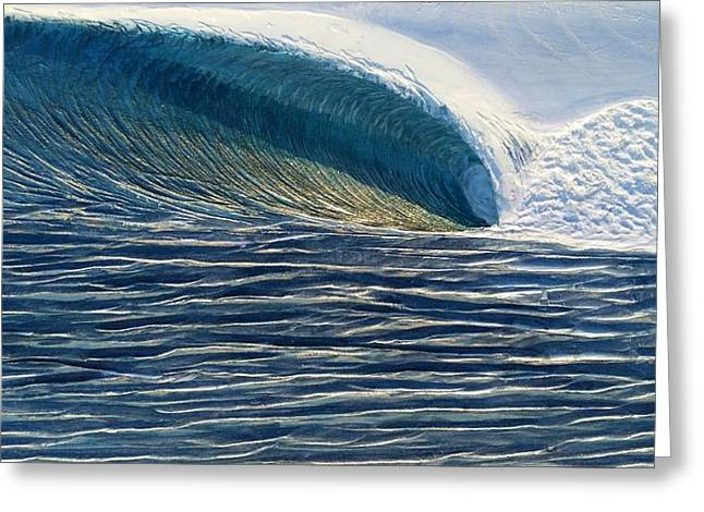 Ocean Reliefs Greeting Cards - Offshore Greeting Card by Nathan Ledyard