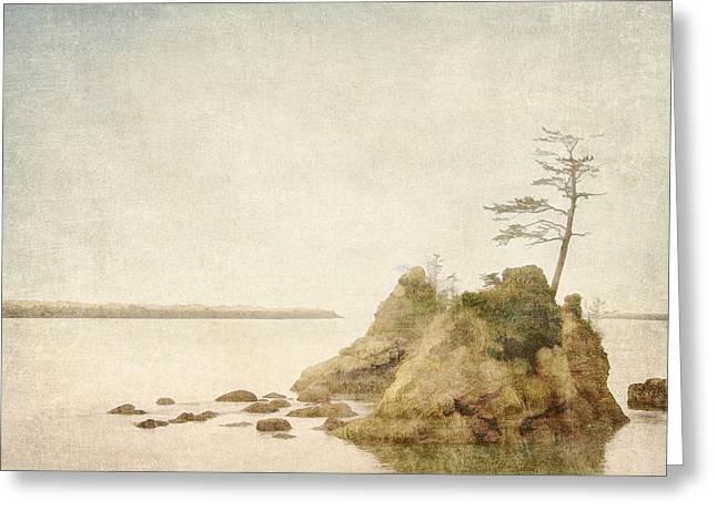 Offshore Rocks Oregon Coast Greeting Card by Carol Leigh