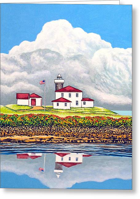 Maine Beach Mixed Media Greeting Cards - Offshore Thunderheads Greeting Card by David Linton