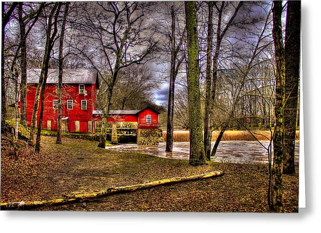 Johnston Greeting Cards - Historic Ogeechee Mill Ogeechee River Hancock County Greeting Card by Reid Callaway