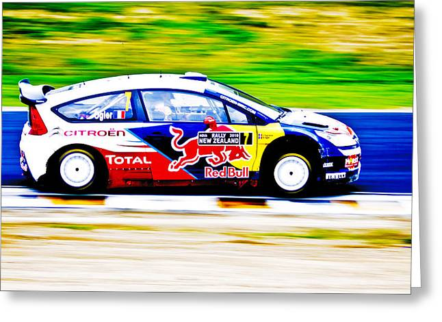 Aotearoa Greeting Cards - Ogier Citroen WRC Greeting Card by motography aka Phil Clark