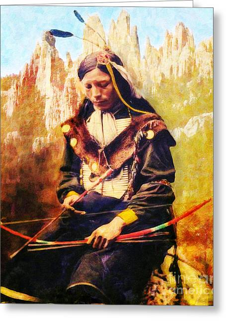 Oglala Greeting Cards - Oglala Homeland Greeting Card by Lianne Schneider