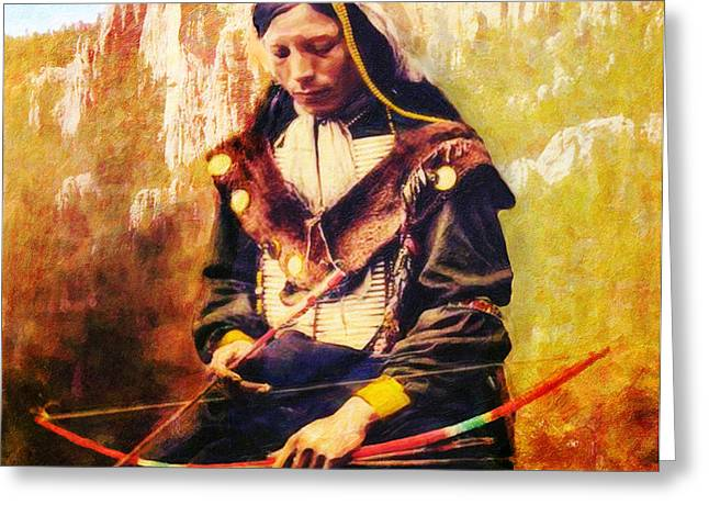 Oglala Homeland Greeting Card by Lianne Schneider