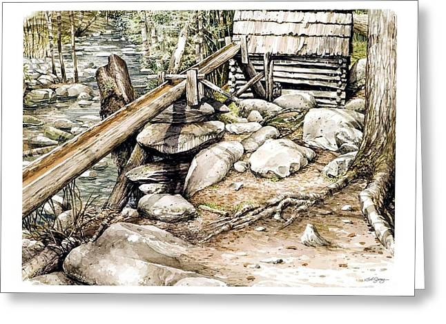 Ogle Grist Mill Greeting Card by Bob  George