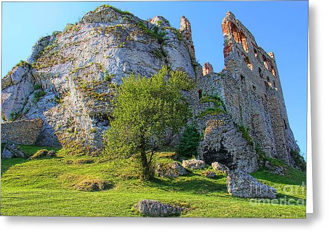 Gora Greeting Cards - Ogrodzieniec Castle Greeting Card by Mariola Bitner