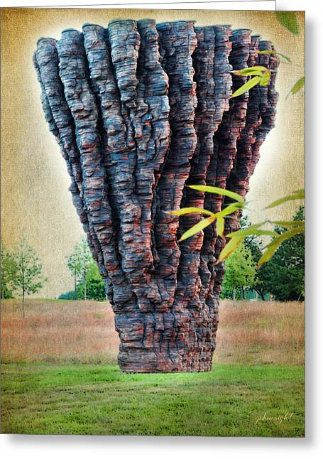 Paulette Wright Digital Art Greeting Cards - Ogromna - Ursula von Rydingsvard Greeting Card by Paulette B Wright