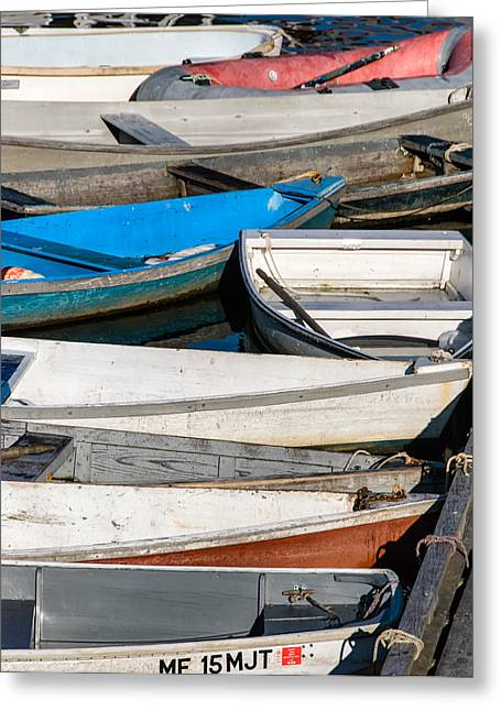 Congestion Greeting Cards - Ogunquit Dock Greeting Card by Joseph Smith