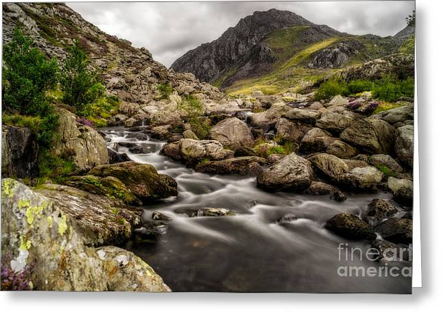 National Digital Greeting Cards - Ogwen River Greeting Card by Adrian Evans