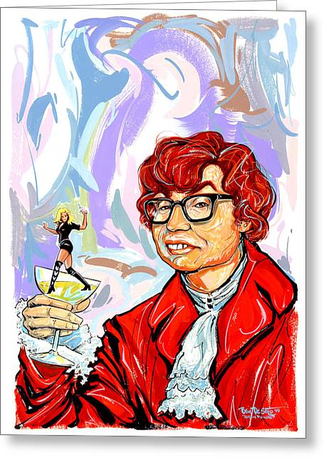 Austin Powers Greeting Cards - Oh Behave Greeting Card by Ben De Soto