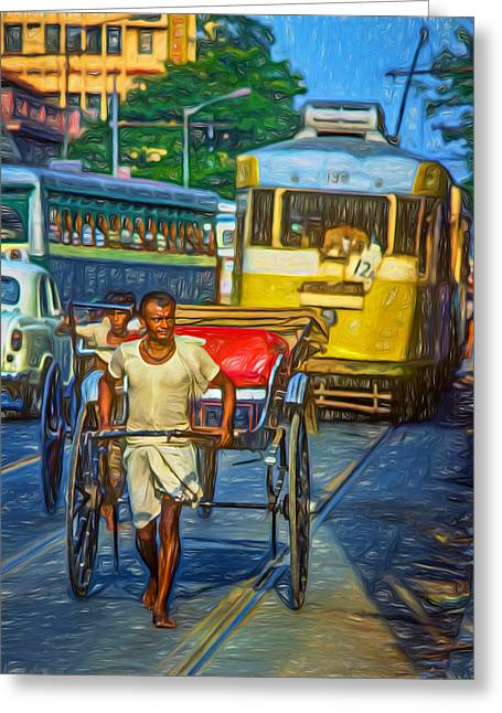 Congestion Greeting Cards - Oh Calcutta - Paint Greeting Card by Steve Harrington