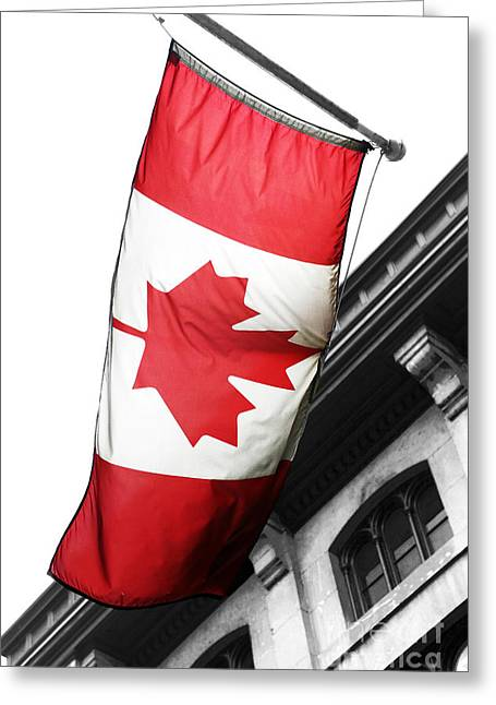 Quebec Province Greeting Cards - Oh Canada Greeting Card by John Rizzuto