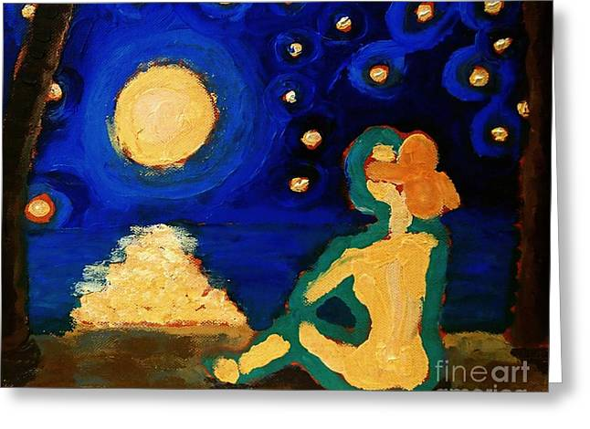 Beach At Night Greeting Cards - Oh Captain My Captain Greeting Card by Janet McDonald