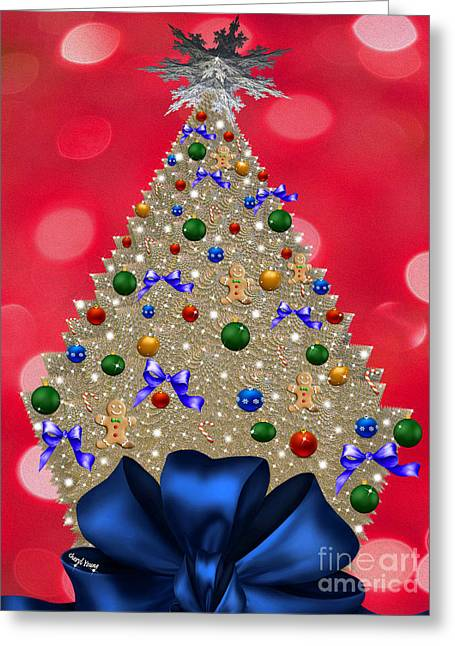 Reception Greeting Cards - Oh Christmas Tree Greeting Card by Cheryl Young